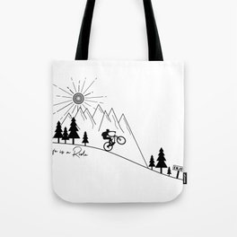 cycling mountain bike mountainbike cyclist bicycle MTB gift Tote Bag