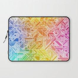 Bright Gradient (Hot Pink Orange Green Yellow Blue) Geometric Pattern Print Laptop Sleeve