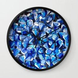 Fond Bleu Wall Clock