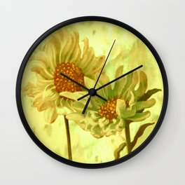 flowers in love Wall Clock