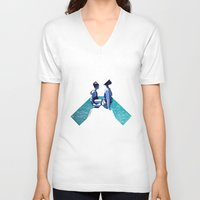 holiday V-neck T-shirts featuring Holiday by Laura O'Connor