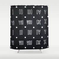 roman Shower Curtains featuring Roman Numerals by waggytailspetportraits