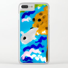 Bear in the water Clear iPhone Case
