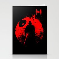 star lord Stationery Cards featuring Death Star Dark Lord by leea1968