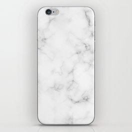 The Perfect Classic White with Grey Veins Marble iPhone Skin