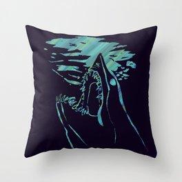 blue mako shark Throw Pillow