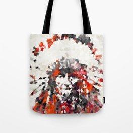 Modern Red Indian Chief - Sharon Cummings Tote Bag