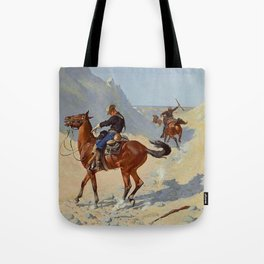 "Frederic Remington Western Art ""The Advance Guard"" Tote Bag"