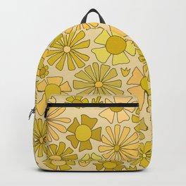 flower power // retro flower pattern by surfy birdy Backpack