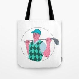Golfer Golf Club Circle Grime Art Tote Bag