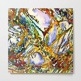 Opalesque Gemstones Abstract Metal Print