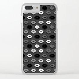Dark Kiss Clear iPhone Case