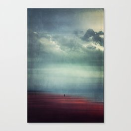 Nothing Matters - Abstract Minimal Beach Scene Canvas Print
