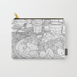 Scottish Beef Steak & Guinness Pie - Line Art Carry-All Pouch
