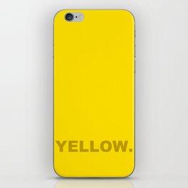 Yellow color less is more, happy summer design iPhone Skin