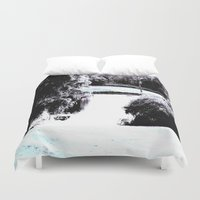 amy pond Duvet Covers featuring Pond by Layne Andrews