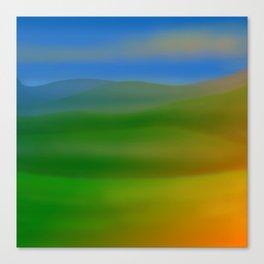Hillscape Sunset Canvas Print
