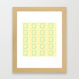 By Faith (teal & yellow) Framed Art Print