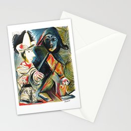 Pablo Picasso Le clown et l'Harlequin (The Clown and the Harlequin) 1971 Artwork, tshirt, tee, jerse Stationery Cards