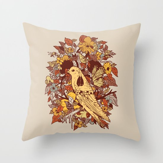 Strange and Beautiful Throw Pillow