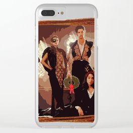 Questers HolidayF Clear iPhone Case