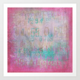 Graffiti in Pink Art Print