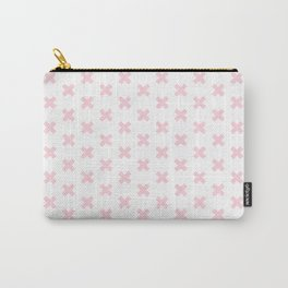 Criss Cross ((pastel pink)) Carry-All Pouch