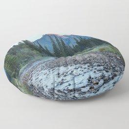 Pilot Peak - Mountain Scenery at Sunrise in Northeastern Yellowstone Floor Pillow
