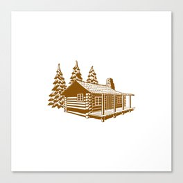 A Cabin in the Woods Canvas Print