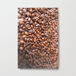 Fresh Coffee Beans Metal Print