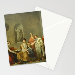 Joseph-Benoît Suvee - Cornelie, mre des Gracques Stationery Cards