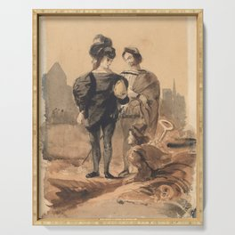 "Eugène Delacroix ""Hamlet and Horatio in the Graveyard"" Serving Tray"