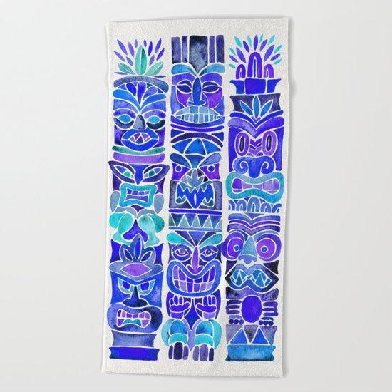 Tiki Totems – Indigo Palette Beach Towel