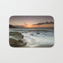 Sunset Over the Rocks Bath Mat