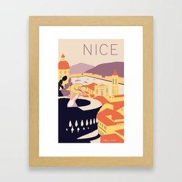 Nice – Sunset Version Framed Art Print