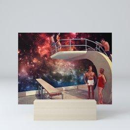 Space dive Mini Art Print