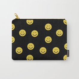Happy Face - smiley, smiles, happy, emoji, cute, 90s, happy face Carry-All Pouch