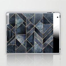 Abstract Nature - Dark Blue Laptop & iPad Skin