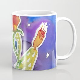 Prickly Pear Cactus in Twilight Coffee Mug