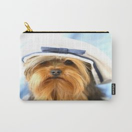 Little Sailor Yorkshireterrier With Sailor Hat #decor #society6 Carry-All Pouch