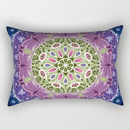 Colourful Dragonfly Mandala Rectangular Pillow