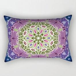 Colourful Dragonfly Mandala Rectangular Pillow