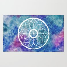 Watercolour Cosmic Mandala Rug