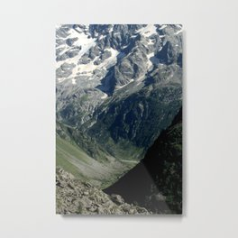Hiking in the french Alps Metal Print