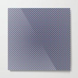 Blue - Red Ethnic Pattern Metal Print