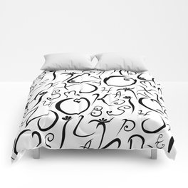 Elvish-Inspired Type Design Comforters