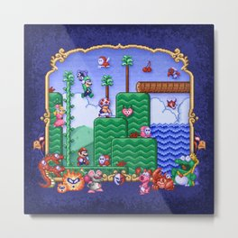 Mario Super Bros, Too Metal Print