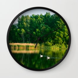 Family picnic Wall Clock