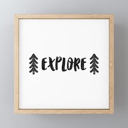 Explore! Framed Mini Art Print