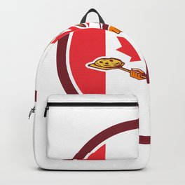 Canadian Pizza Baker Canada Flag Icon Backpack